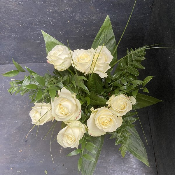 Rosenstrauß in weiß / individuelle Rosenmenge Bild 1