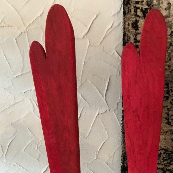 Holzherz rot Bild 1