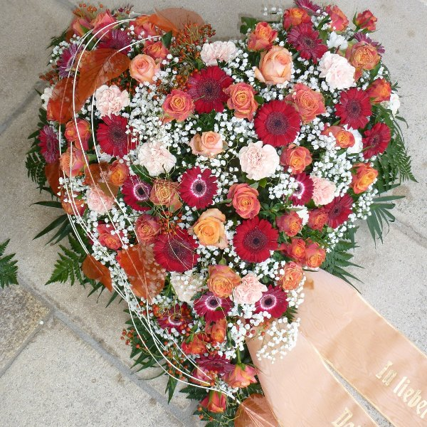 """Florales Herz """"Danke für Alles"""" Bild 1"""