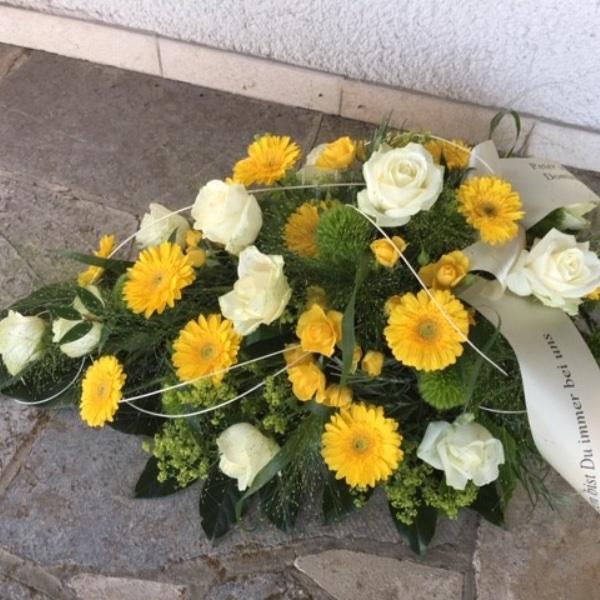 Trauer-Bukett gelb-weiß Bild 1