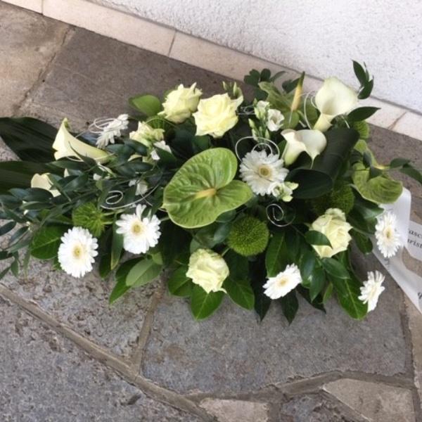 Trauer-Bukett grün-weiß Bild 1