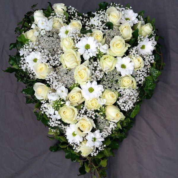 Herz Edel in weiß Bild 1
