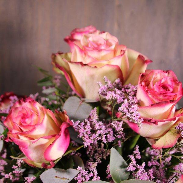 Rosenstrauß in rosa Bild 2