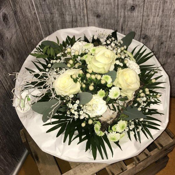 Blumenstrauß weiß - Strukturstrauß Bild 3