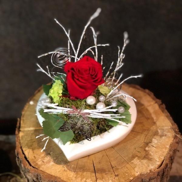 rote Infinity-Rose Bild 1