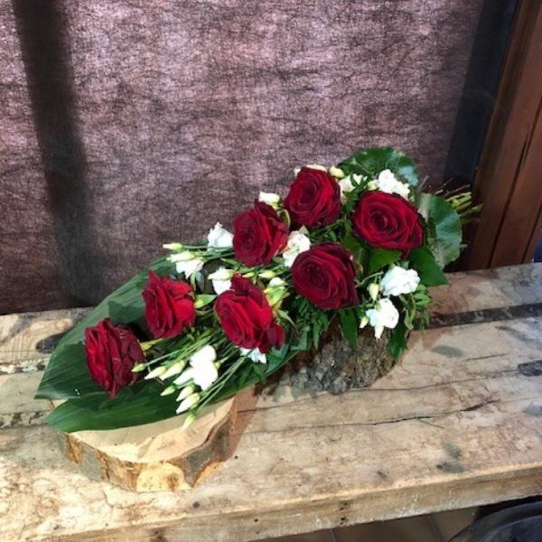 Legestrauß mit roten Rosen Bild 1