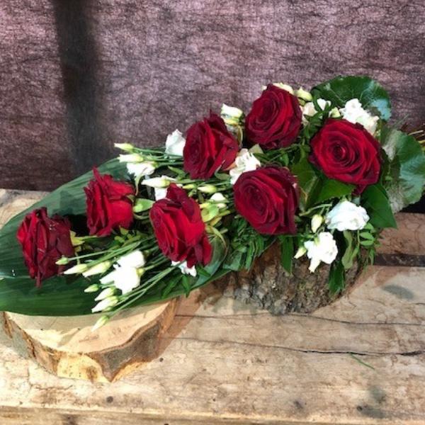 Legestrauß mit roten Rosen Bild 2