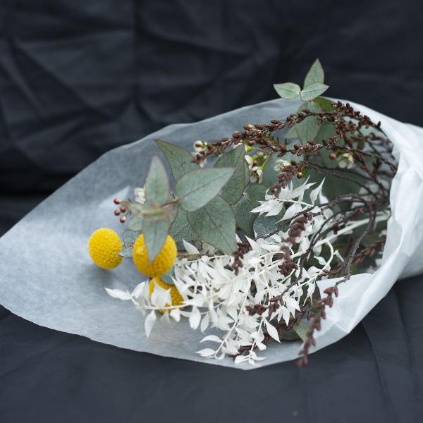 Driedflower-Strauß Gelb Bild 2
