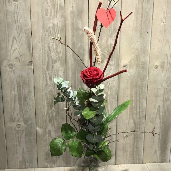"""Blumenstrauß  """"Liebesbotschaft"""" zum Valentinstag Bild 1"""