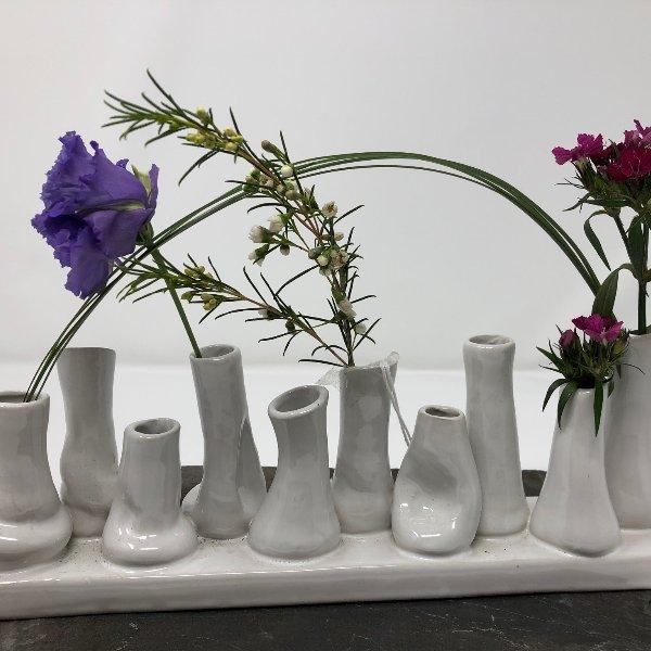 Minivase in weiß Bild 1