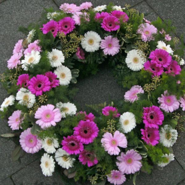 TK 16    Kranz pink-weiß Bild 1