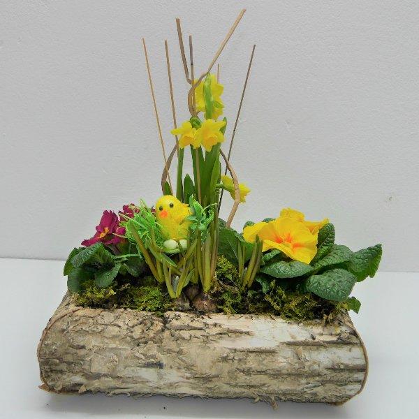 Frühlings- Schälchen Wickerl gepflanzt Bild 1