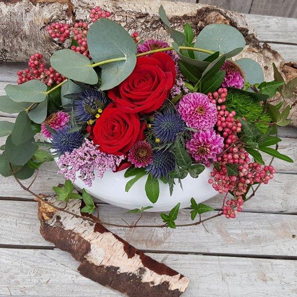 Frischblumengesteck Bild 1