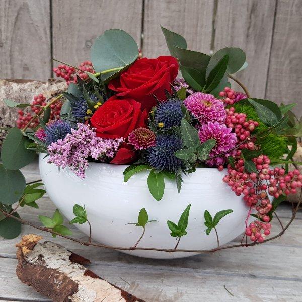 Frischblumengesteck Bild 2