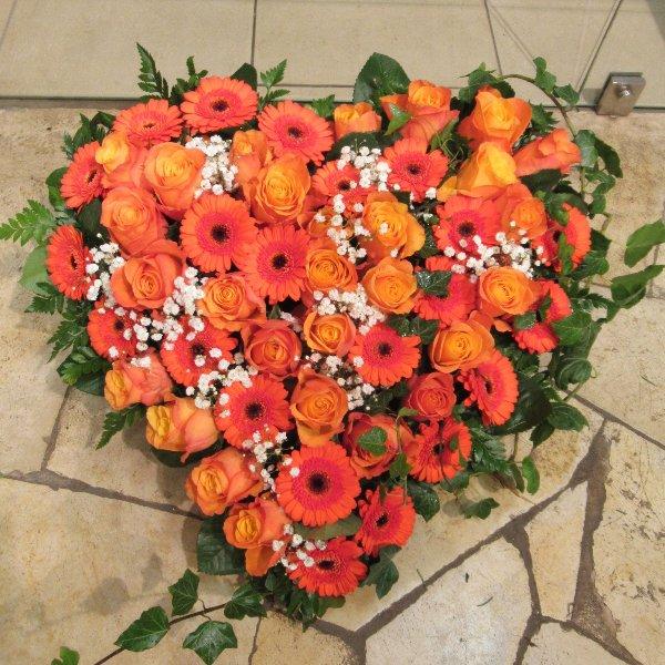 Blütenherz, orange Bild 1