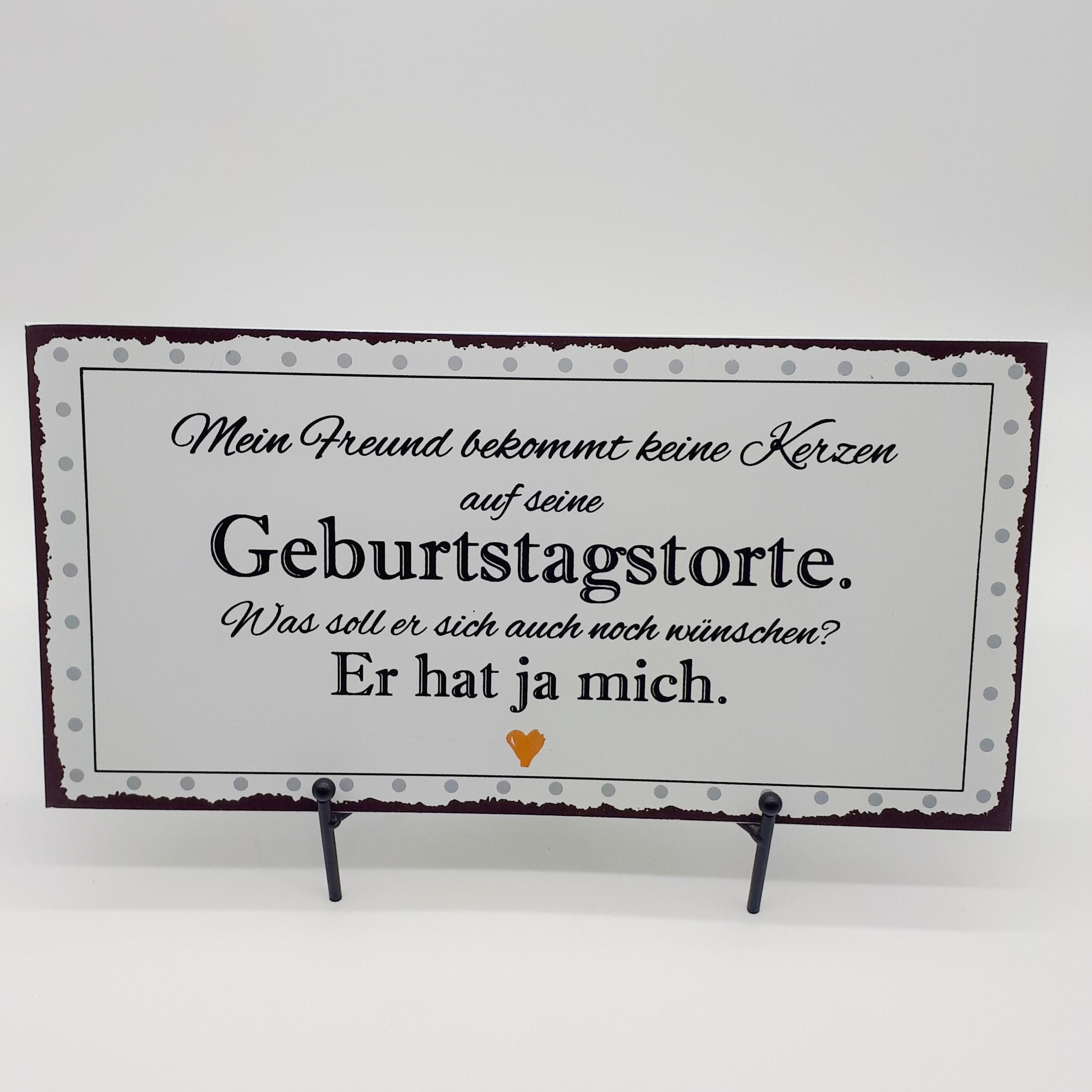 """Blechschild """" Geburtstagstorte """" Bild 1"""