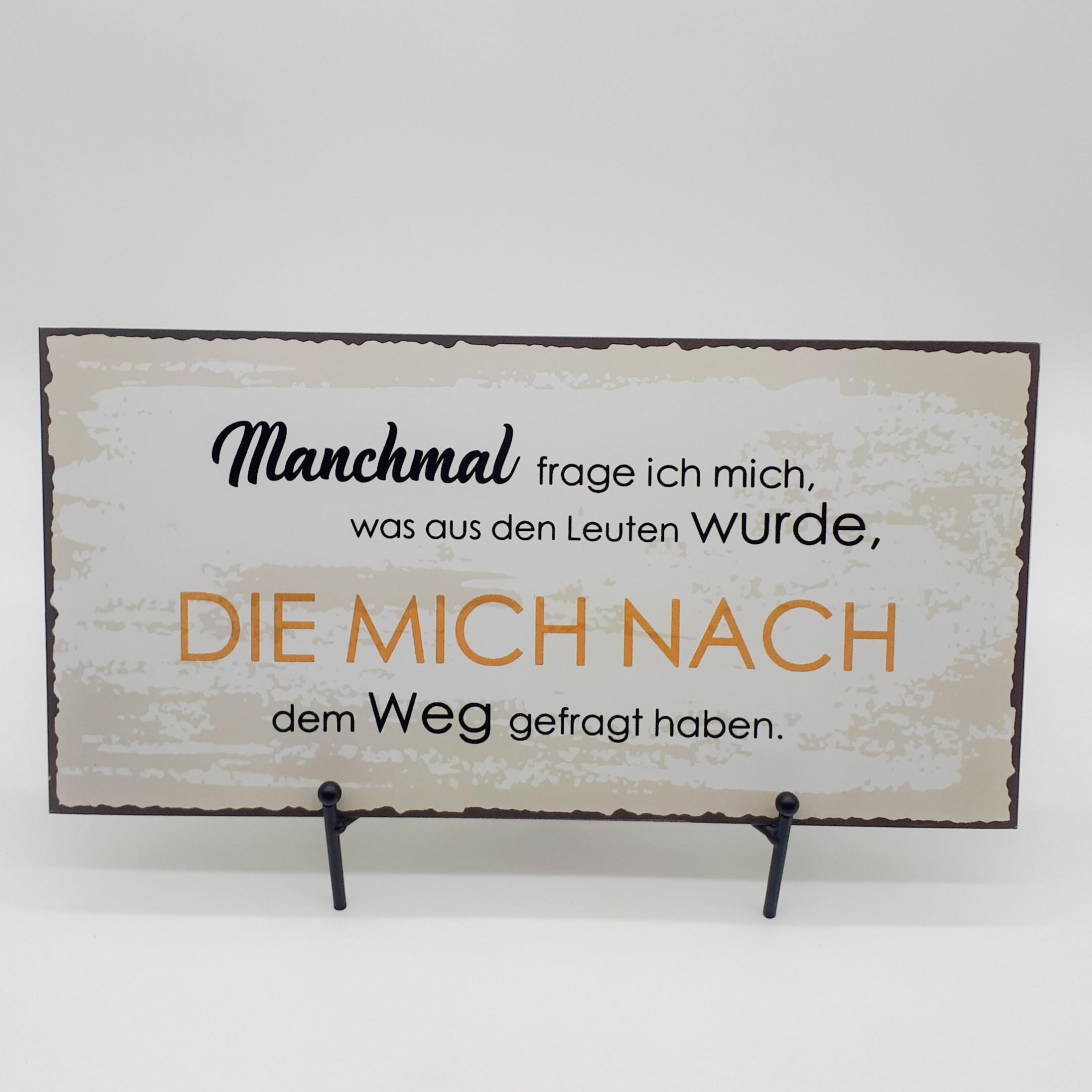 """Blechschild """" Wegbeschreibung"""" Bild 1"""