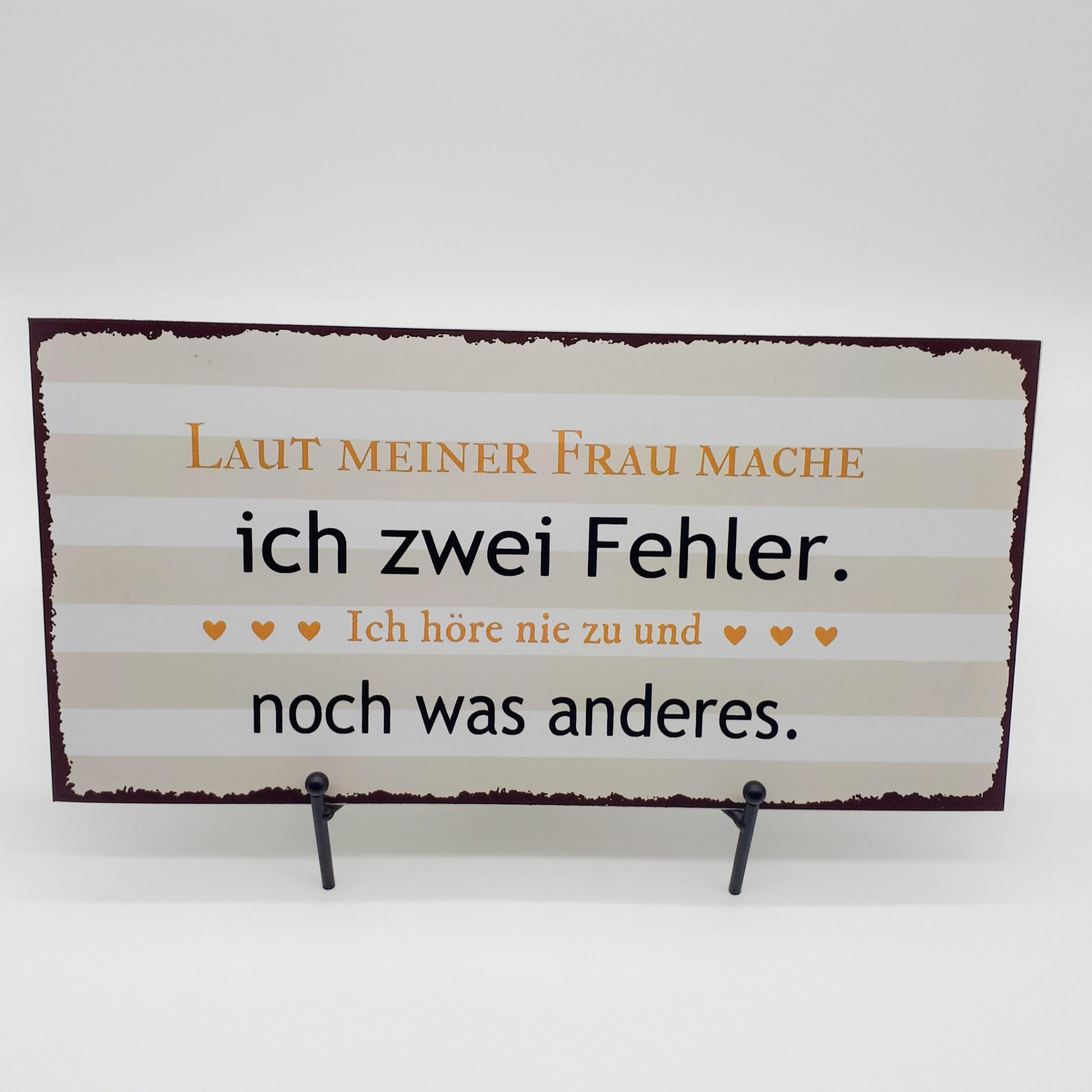 """Blechschild """"Zwei Fehler """" Bild 1"""