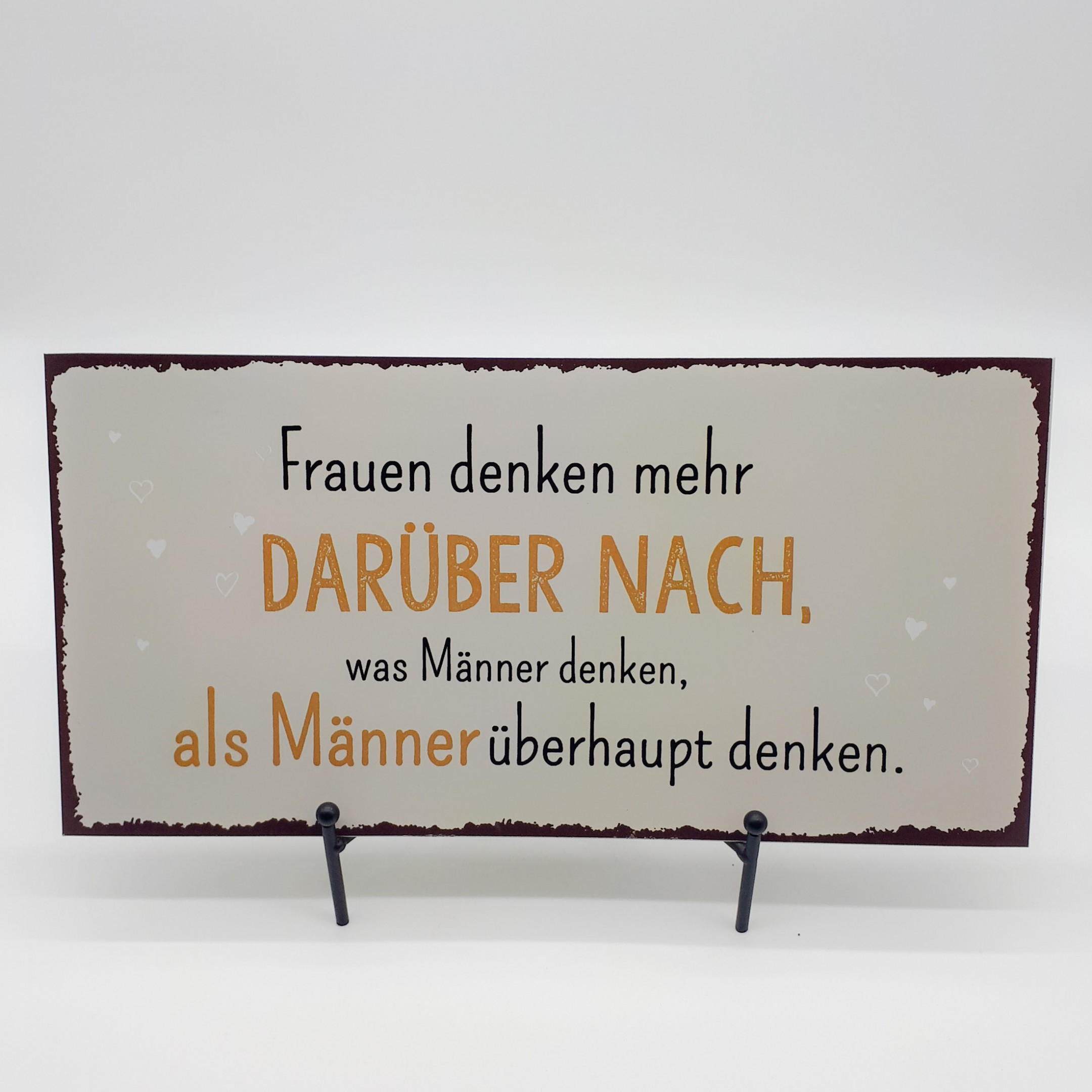 """Blechschild """"Nachdenken"""" Bild 1"""