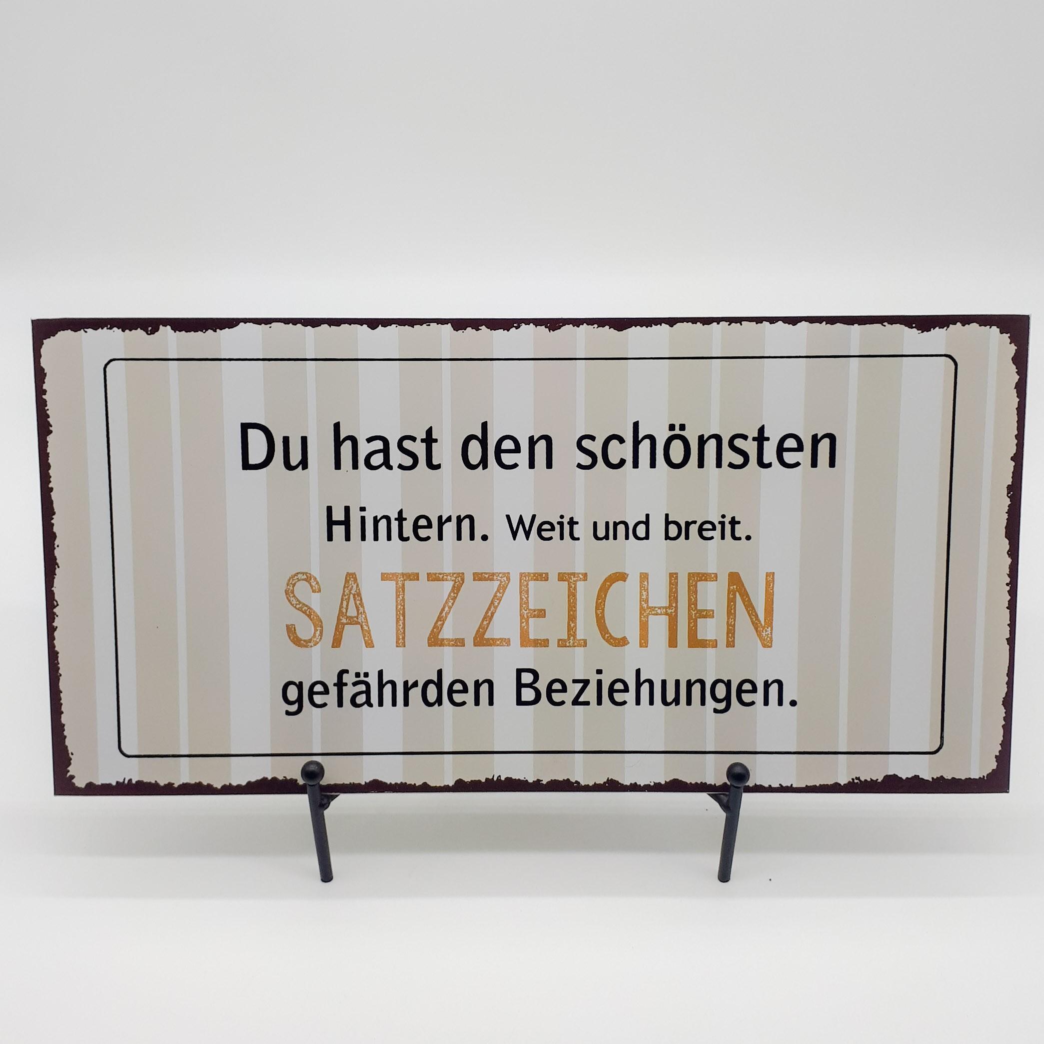 """Blechschild """"Satzzeichen"""" Bild 1"""