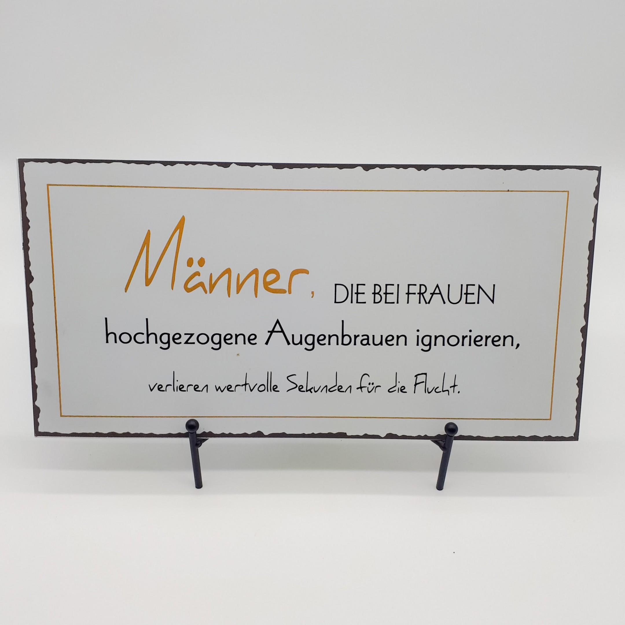 """Blechschild """"Ignorierte Augenbrauen"""" Bild 1"""