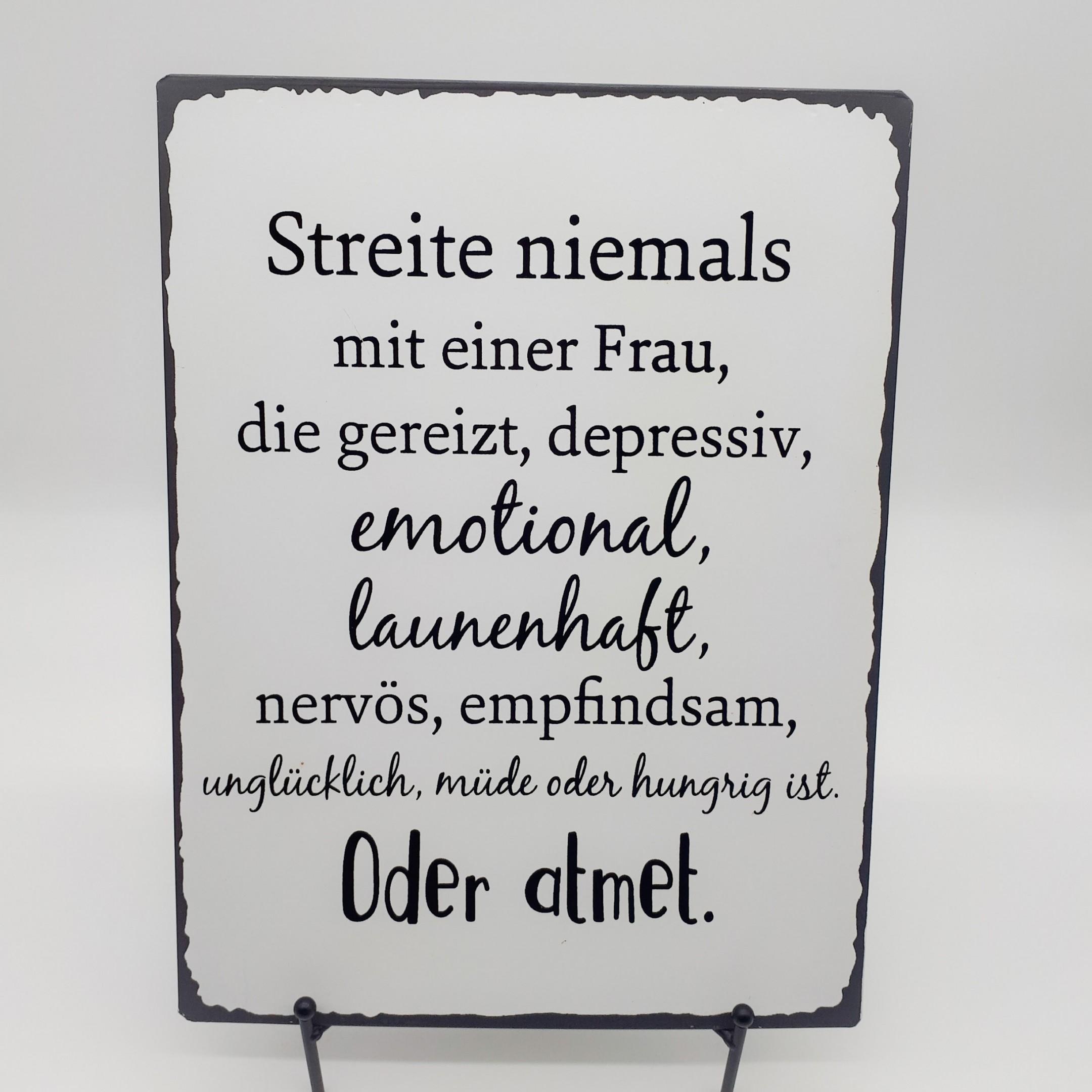 """Blechschild """"Streit"""" Bild 1"""