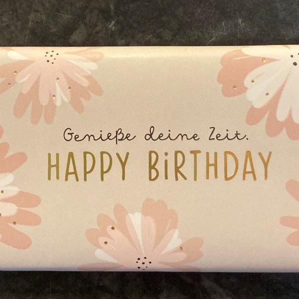 """Schokolade """"Happy Birthday"""" rosa Bild 2"""