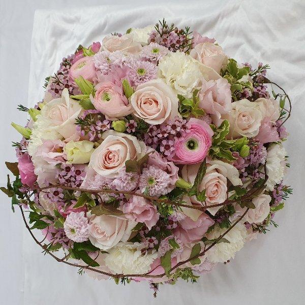 Blumenkugel pastellrosa Bild 1