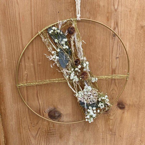 """Trockenblumen Hoop """"Goldie"""" Bild 1"""