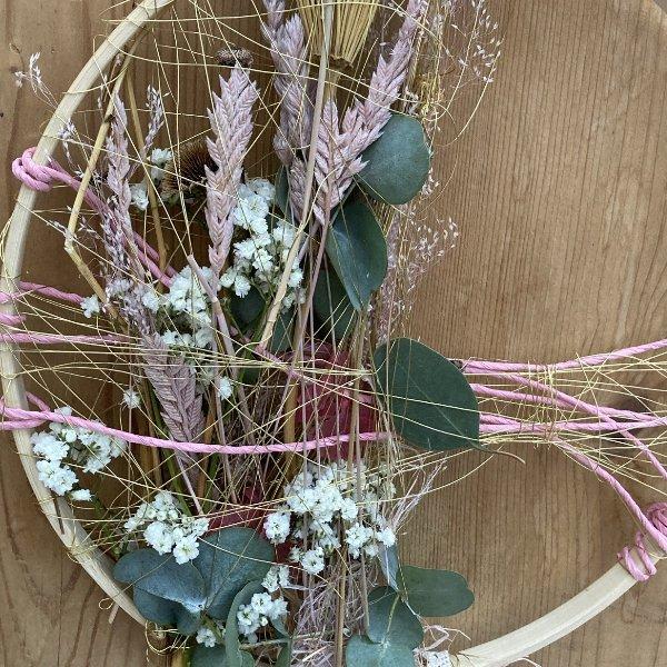 """Trockenblumen Hoop """"Spring"""" Bild 2"""