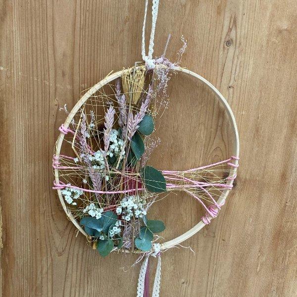 """Trockenblumen Hoop """"Spring"""" Bild 1"""