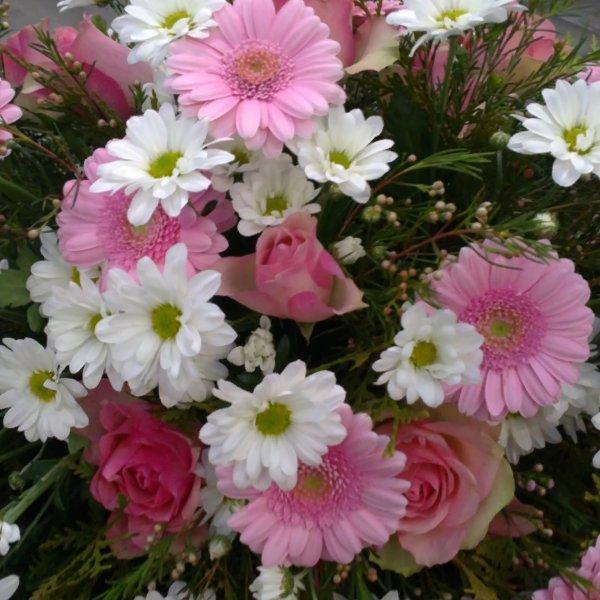 Trauerkranz Gerbera rosa Bild 2