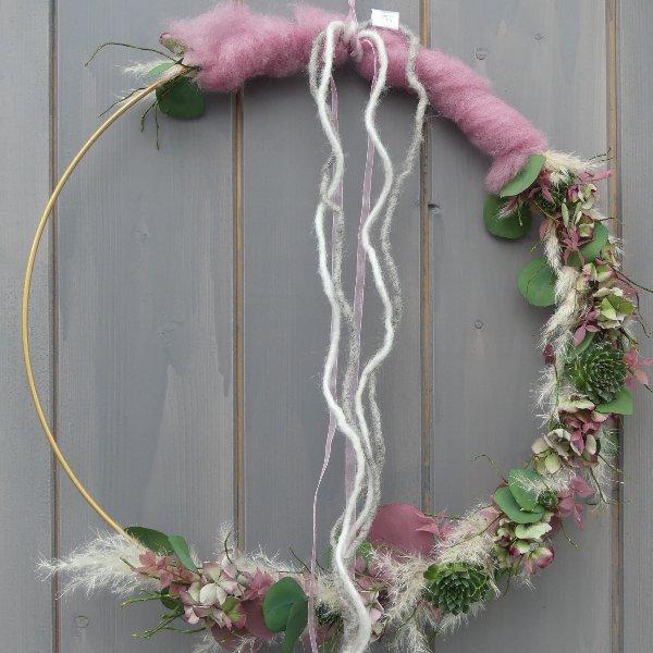 Loop Boho style in rosa Bild 1