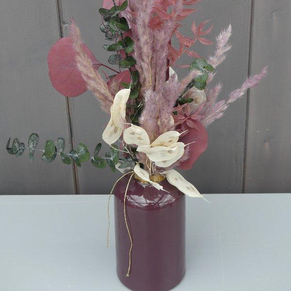 Boho Strauß mit Vase Bild 1