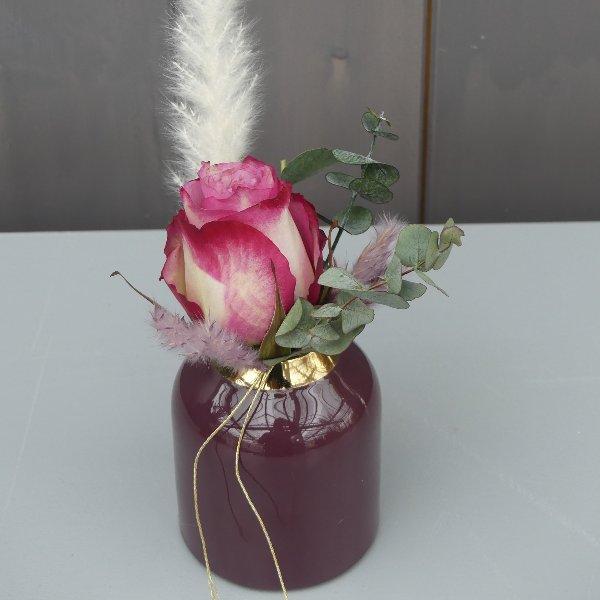 Boho Strauß mit Vase klein Bild 1