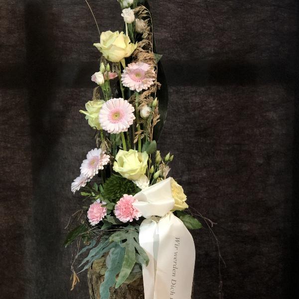 Trauer-Gesteck in rosa-weiß Bild 4
