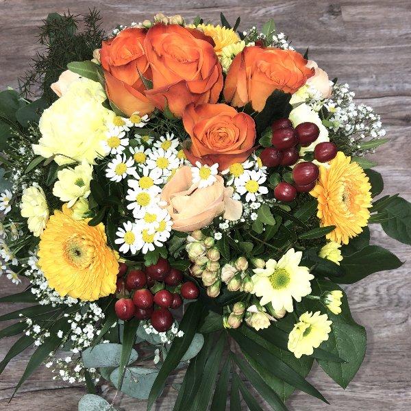 BS-2 Blumenstrauß orange/gelb Bild 1