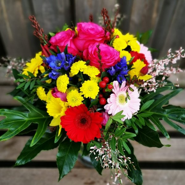 Frühlingsstrauß Farbklex Bild 1