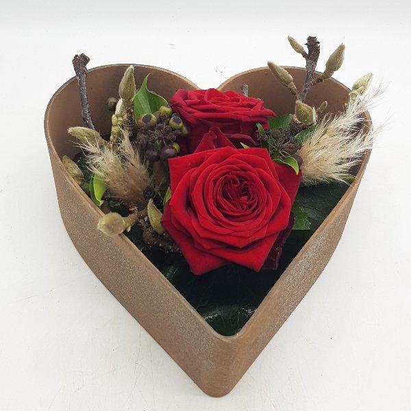 Herz mit Rosen Bild 1
