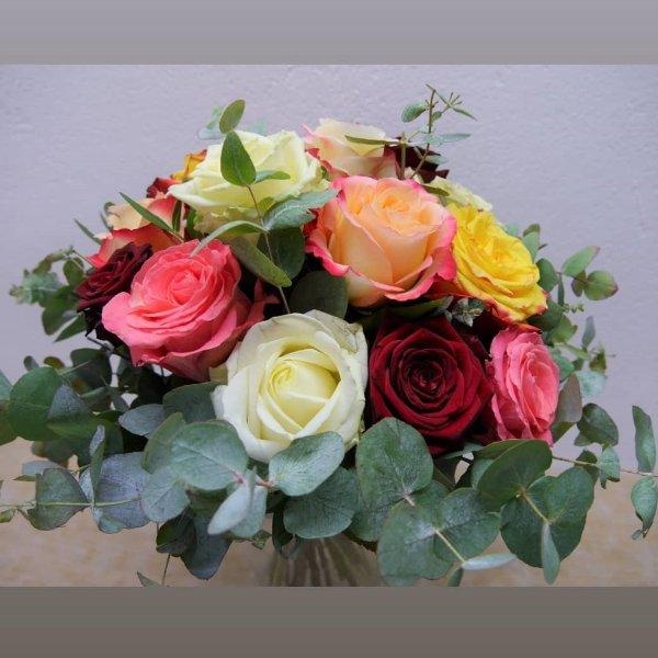 Blumenstrauß bunte Rosen-Angebot Bild 1