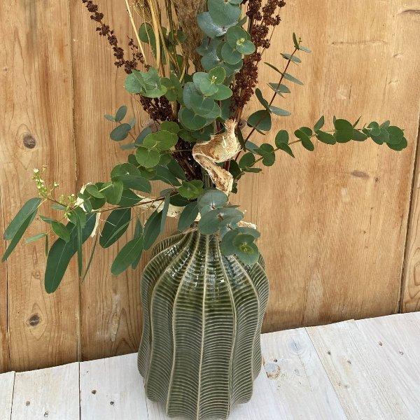 Vase mit Struktur Bild 2