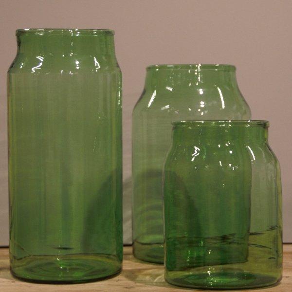 Glasvase grün Bild 1