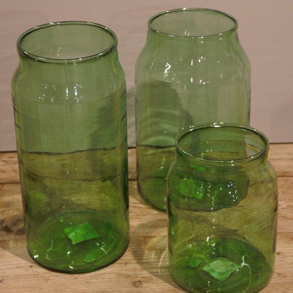 Glasvase grün Bild 2