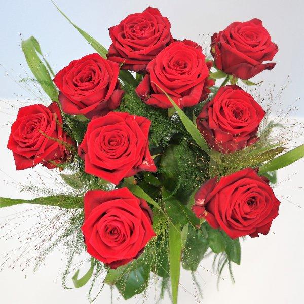 Rosen mit Grün in versch. Farben Bild 1