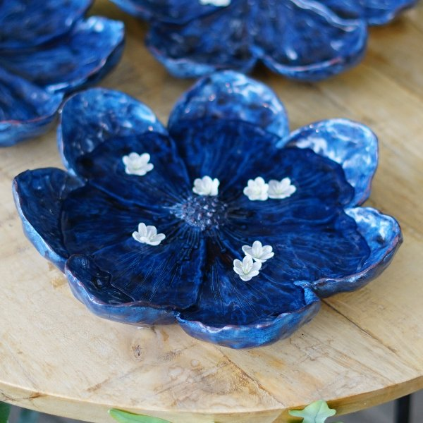 dekorative Blüte blau Bild 4