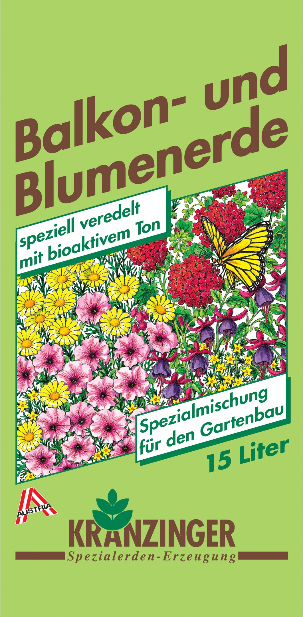 Balkon- und Blumenerde 15l Bild 1