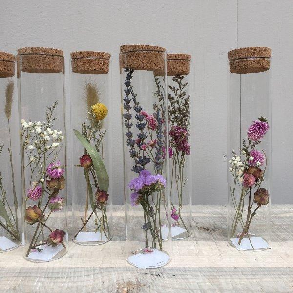 Trockenblumen im Glas Bild 1
