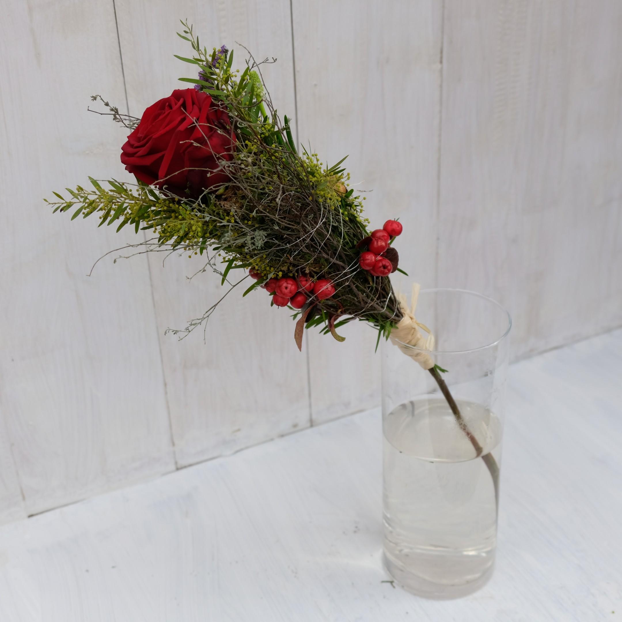 Rose liebevoll verpackt Bild 2