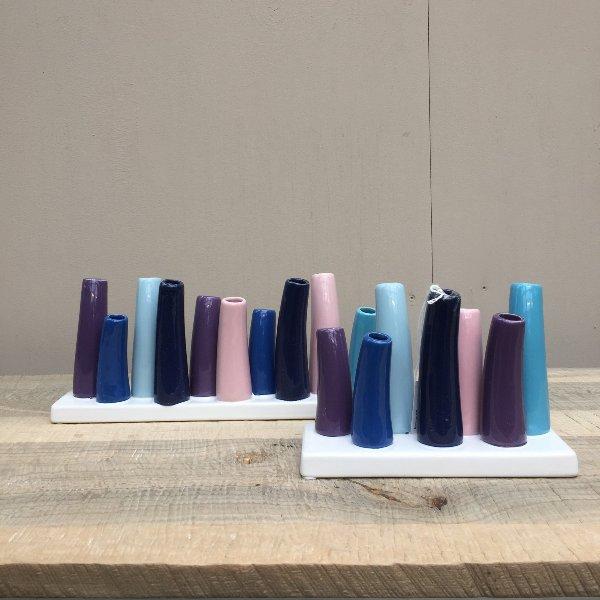 'Väschen-Vase' Britta Blau-Violett Bild 1