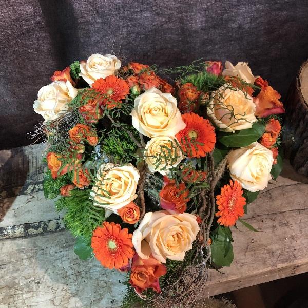 Trauer-Herz in orange-Tönen Bild 2